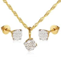 Buy Vera Perla 18K Solid Gold 0.21ct Genuine Diamond