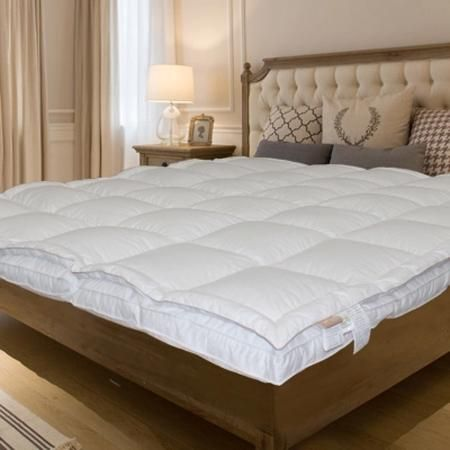 Cotton Queen Size Mattress Protector 132 Thead Count White 2