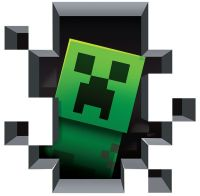 Minecraft Creeper 3D Wall Decal/Cling Home Decor Wall ...