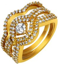 Buy Pure Gold Jewellers Women's 18K Gold FPC Knot Bridal ...