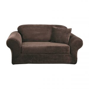 stretch morgan 1 piece sofa furniture cover modern minimalis sure fit chair slipcover chocolate sf45369