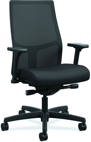 hon ignition fabric chair dining chairs canada upholstered 2 0 mid back black mesh computer for office desk honi2m2amnc10tk souq uae