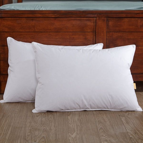 pottery barn goose down sofa ethan allen sleeper air mattress feather cushion inserts   review home co
