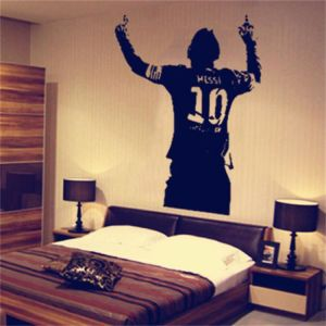 World Cup Football Player Messi Sticker Living Room Bedroom Background Wall Home Decoration Painting Wallpaper Buy Online Wallpaper Decals At Best Prices In Egypt Souq Com
