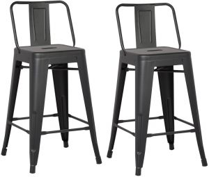 stool chair dubai hammock stand only buy best metal bar stools pan emirates flash furniture fly ac pacific modern industrial barstool with bucket back and 4 leg design 24 seat set of 2 matte black finish