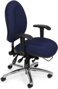 tall swivel chair dining room seat covers with ties ofm 24 hour big and ergonomic task computer desk arms blue 247 souq uae