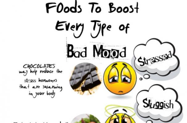 Foodista | Infographic: Foods to Get Rid of a Bad Mood