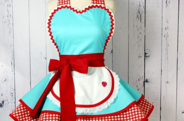 Foodista Retro 50s Diner Waitress Apron Is A Blast From