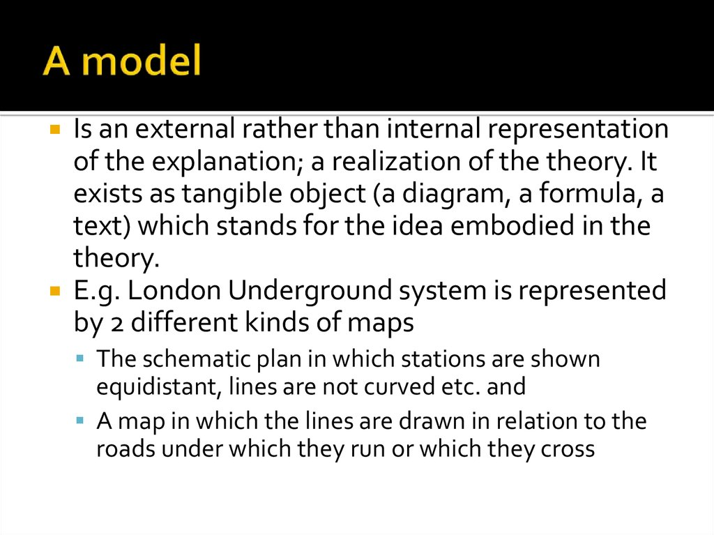 Theory, Model, Algorithm. Modeling the Process of