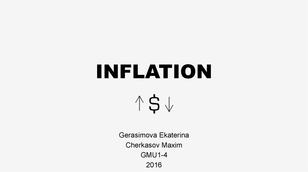 Inflation. Inflation in different economic systems. Causes