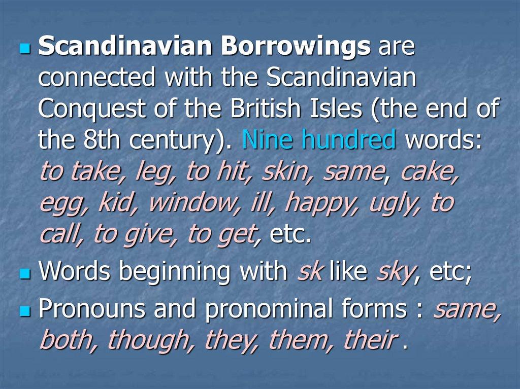 Etymology of English Words - презентация онлайн