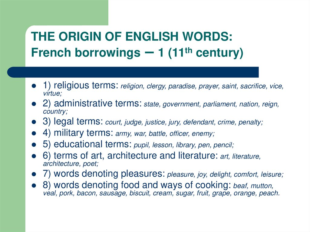 Etymology of english words. Native and borrowed words in english - презентация онлайн