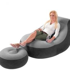 Intex Sofa Chair Leather Melbourne Cheap Inflatable With Footrest Flocked 68564 Souq Uae
