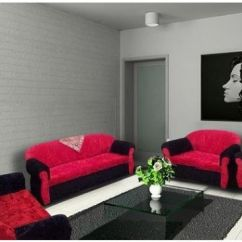 Red And Black Living Room Sets Wall Pictures For Cheap Royal 4 Piece Modern Sofa Set Rose Souq Uae 645 00 Aed