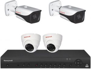 Honeywell HRHT4041 4 CH DVR + 2 Ball-Cam HD30HD2 + 2 bullet-Fixed Cam HB74HD2+1TB Storage