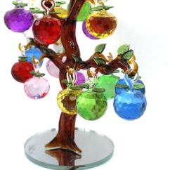 Artificial Trees For Living Room Furniture Vintage Style Large Crystal Apple Tree Decorative Ornaments Home Office Bar Desk Party Wedding Decoration Birthday Festival Multi