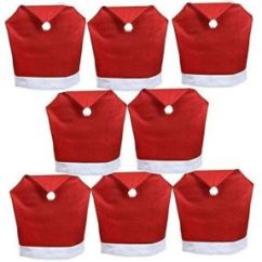 Santa Chair Covers Sets Power Lift Chairs Costco Hat Set Of 8 Pcs Clause Red Back This Item Is Currently Out Stock
