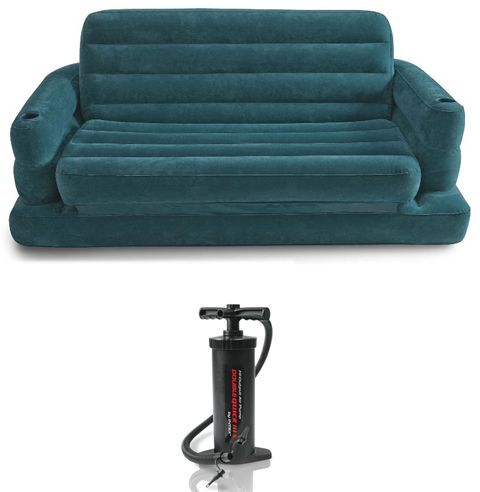 intex pull out sofa review minotti sofas 2018 68566 two person inflatable bed with manual pump 269 00 sar