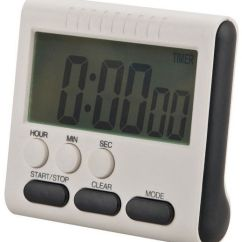 Loud Kitchen Timer Specialty Stores Magnetic Large Lcd Digital With Alarm Count Up Down Clock To 24 Hours 78x73x25mm