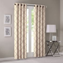 Curtains For Yellow Living Room Wall Tiles Design Philippines Modern Contemporary Window Bedroom Saratoga Print Fabric Grommet 50x95 1 Panel Pack Souq