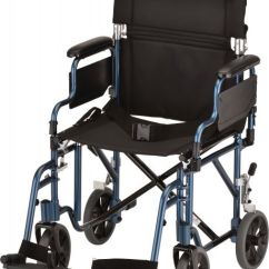 Transport Wheelchair Nova Lime Green Dining Chairs Uk Medical Products 19 With Detachable Arms Blue Souq Uae