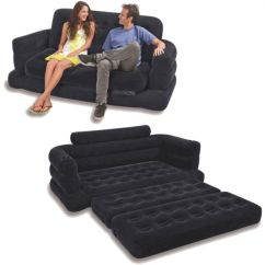 Intex Sofa Chair Sleeper Sheet Set Two Person Inflatable Pull Out Bed Black Souq Uae