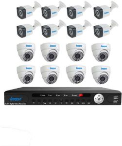 AHD 16 Channels DVR + 8 Indoor + 8 Outdoor 1MP CCTV Security Camera