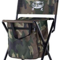 Fishing Cooler Chair Beach And Umbrella Mini Protable Backpack Folding With Bag Storage Pockets Convenient Ultra Lightweight Compact Outdoor Seat For Camouflage