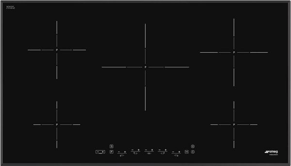 smeg induction hob wiring diagram 4 way stretch 90cm black glass angled edge 5 heating zones this item is currently out of stock