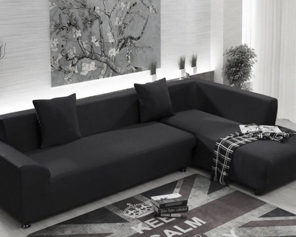 2 seater l shaped sofa bed children s chesterfield uk elastic stretch cover shape pieces set souq uae this item is currently out of stock