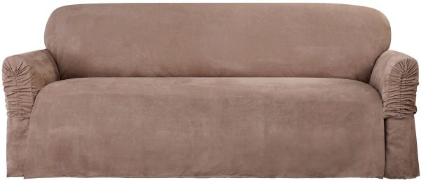 faux suede sofa cleaning instructions kincaid sure fit slipcover taupe sf38888 souq uae this item is currently out of stock