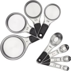 Oxo Kitchen Supplies Unique Tables Good Grips Measuring Cups And Spoons Set Stainless Steel Souq