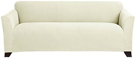 stretch morgan 1 piece sofa furniture cover small daybed sure fit slipcover ivory sf45368
