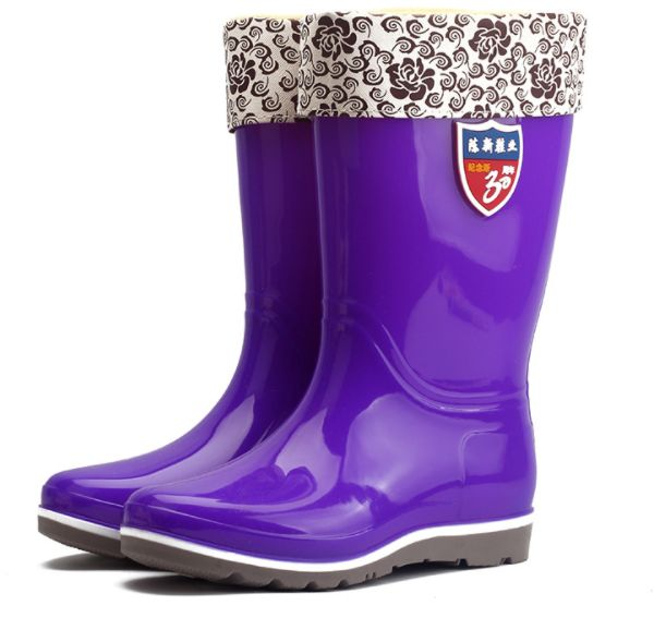 shoes for work in the kitchen rectangular tables winter women s rain boots plus cotton warm high tubenon slip water 149 94 aed