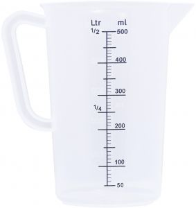 kitchen measuring tools flooring for kitchens sunnex buy 86021 polypropylene jug 0 5 liter clear