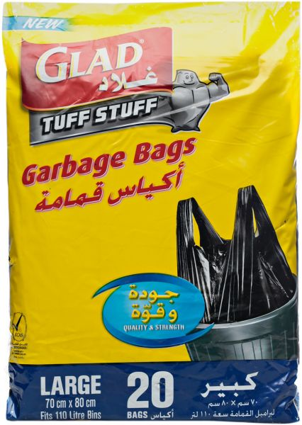 glad kitchen bags redoing cabinets garbage tie large handle 110 l souq uae