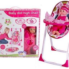 Baby Doll High Chairs Wayfair Outdoor Rocking Chair Cushions 9 In 1 Play Set As Dining And Basket Souq Uae