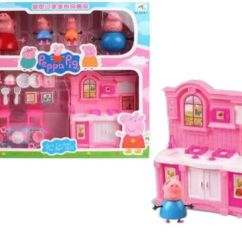 Pig Kitchen White Faucets Peppa Set Toy With Action Figure For Kids Children