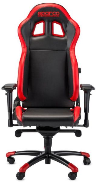sparco office chair leather and ottoman set grip gaming with sports seat black red souq uae 1 300 00 aed