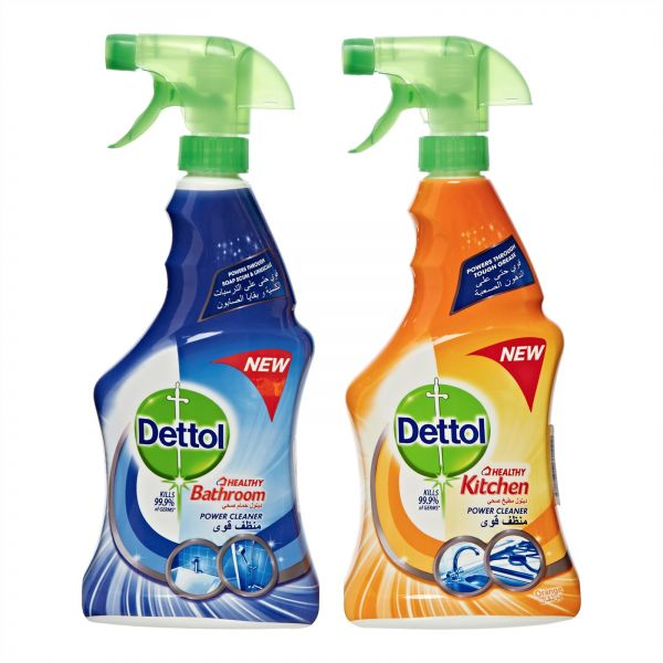 kitchen cleaning products island with drawers dettol healthy bathroom and power cleaner trigger spray pack of 2 pieces x 500ml souq uae