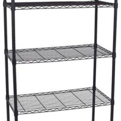 Kitchen Wire Rack Pull Out Baskets Cupboards 5 Tier Shelving Bathroom Storage Shelves Unit Metal