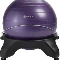 Yoga Ball Chair Exercises Poang Design History Gaiam Classic Backless Balance Exercise Stability Premium Ergonomic For Home And Office Desk With Air Pump Guide