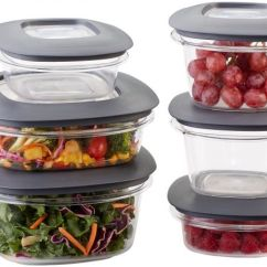 Rubbermaid Kitchen Storage Containers Compact Kitchens Nz Premier Easy Find Lids Food Gray Set Of 12 1951295