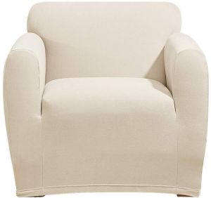 stretch morgan 1 piece sofa furniture cover ethan allen preston 84 sure fit chair slipcover ivory sf45366