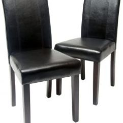 Roundhill Furniture Wonda Bonded Leather Accent Chair With Wood Arms White Dining Chairs Set Of 2 Buy Poly And Bark Urban Style Solid Leatherette Padded Parson Black