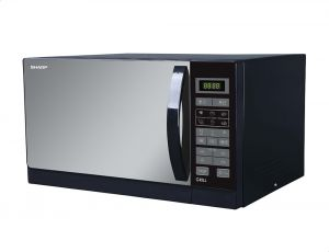 sharp r 750mr k microwave with grill 25 liters black