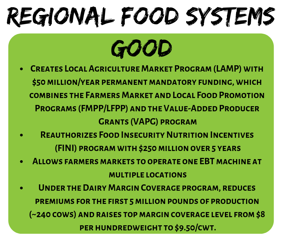 2018 Farm Bill Regional Food Systems