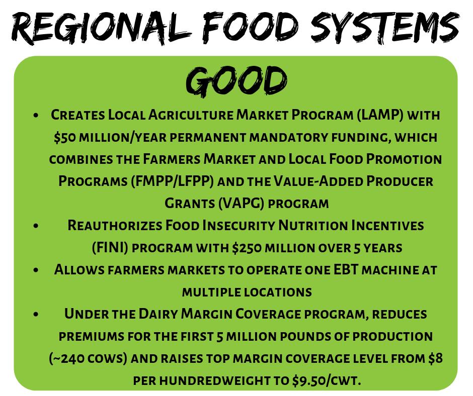2018 Farm Bill Regional Food Systems