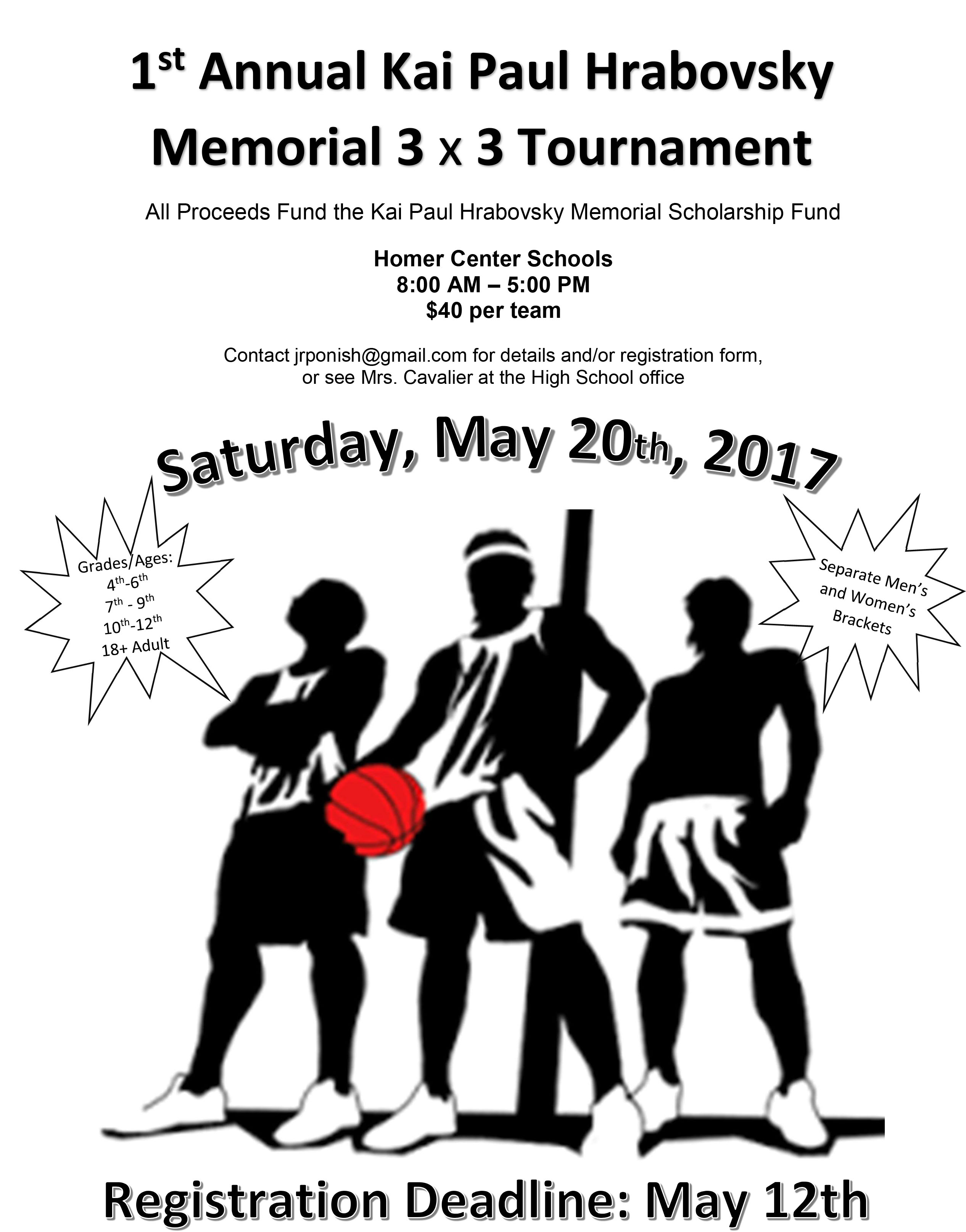 Kai Paul Hrabovsky Memorial 3 on 3 Tournament