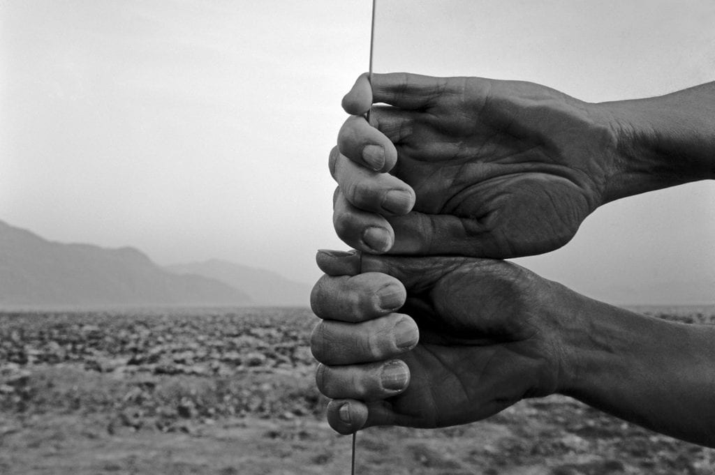 """04. My Hand Death Valley forblog - Laband Art Gallery Explores Five Decades of Photography with """"Judy Dater: Only Human"""""""
